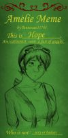 Amelie Meme .:filled out:. by Tennessee11741