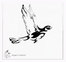 Pigeon Tattoo design by A-shanti