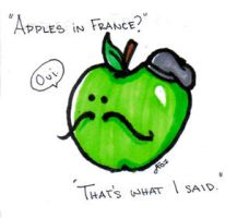 Apples in France by MandiFlick