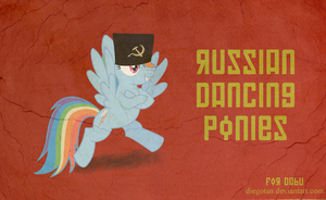 Russian Dancing Pony - Rainbow Dash For Dabu by DiegoTan