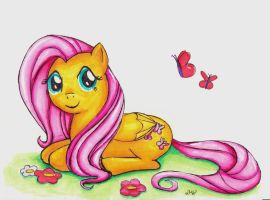 Fluttershy by LittleGreenSpirit