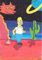 Homer's mysterious voyage by Goofatron