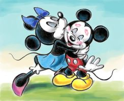 Mickey and Minnie Mouse by zdrer456