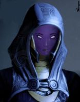 Tali's face by Mirrage26