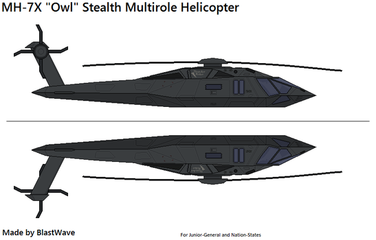 MH-7X Owl - Stealth Multirole Helicopter by BlastWaves