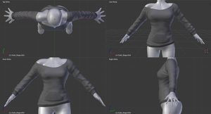 Custom Commission 3d Mesh Top by BloodAppleKiss