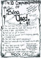 10 commandments to being used by eisadia-didi