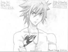 Drawing 36 (Manga) Gray Fullbuster (Keven Soucy) by Kdor2684