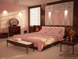 first VRay render bedroom C4D by ibrahim-ksa