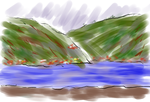 Train Sketch - The Rhine by jhubert