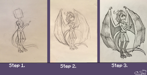 How to draw adult Spas by SnapDragonStudios