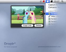 Droplr2 for Snow Leopard by YaroManzarek
