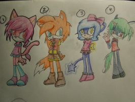 Sonic Adoptables .:OPEN:. by Laced-with-Ribbons