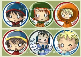 south park buttons by jinyjin