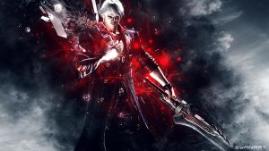 Devil MAy Cry 4 - Nero Wallpaper by TheSyanArt