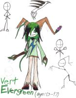 Vert Evergreen age 13 by werecatkid17