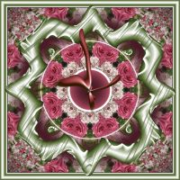 Rotated Rose Clock by GrannyOgg