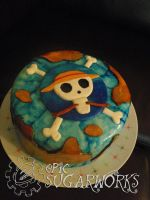 One Piece Cake by epicsugarworks