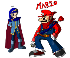 Mario and Marth by mortimermcmirestinks
