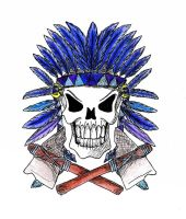 Chief Skull with colours by Uncle-Sarah