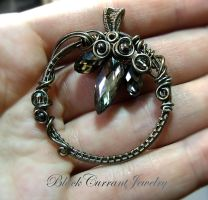Geode Pendant by blackcurrantjewelry