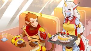 Wukong and Soraka Commission by Sollyz