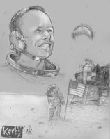 Neil Armstrong 1930-2012 (pencils with gray) by BrothaBlu