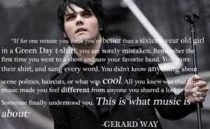 Gerard Way Quote by baileyluv22
