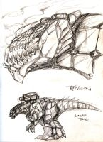 TFC - Trypticon sketches by BLACK-HEART-SPIRAL