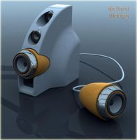 ipod deltoid speakers 2 by deltoiddesign