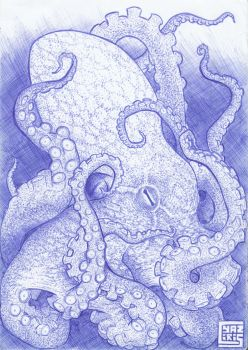 Work notebloc - Octopus by cyaziris