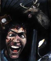 Ash become crazy, Evil dead by Annie-Claudine