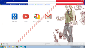 Hetalia: France Chrome Theme DL by Soraoraoraora