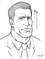 Schwarzenegger caricature by silentsketcher