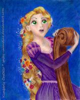 Disney - Rapunzel by kimberly-castello