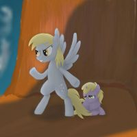 Derpy Defend Dinky by Grennadder