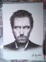 Dr. House with charcoal by eNji07