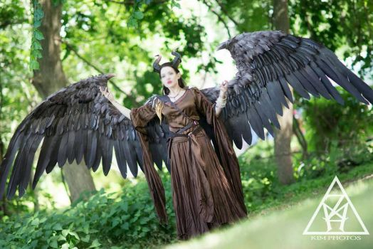 Maleficent Cosplay Full Size wings by TheGriffinQueen