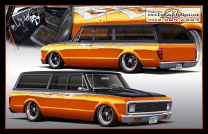 1971 Suburban Rendering by EyeKandyDesigns