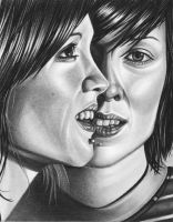 Tegan + Sara of Tegan and Sara by JJRRS