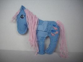 My little Pony G1 Custom Wind Whistler felt by BerryMouse