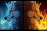 Arcanine: Fire and Ice by blueharuka