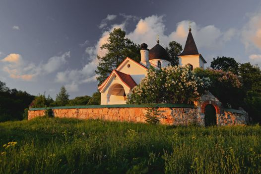 Church in the countryside by Nickdan