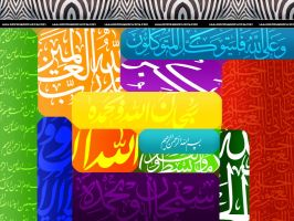 Islamic colorful art by razangraphics