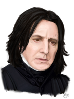 Snape is Sad by dena-gray