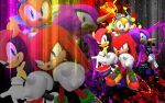 Knuckles, Mighty, Ray And Espio - Wallpaper by SonicTheHedgehogBG