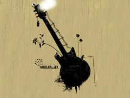 Wallpaper : Guitar - vectorial by alex240390