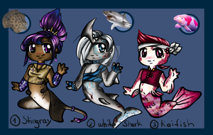 Collaboration Merpeople Adopts by LunAdoptions