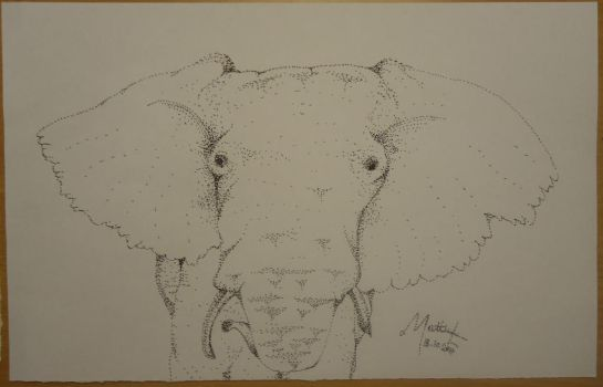 Elephant Made out of dots by mattloweart