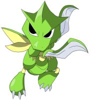 Chibi: Scyther from Pokemon by animereviewguy